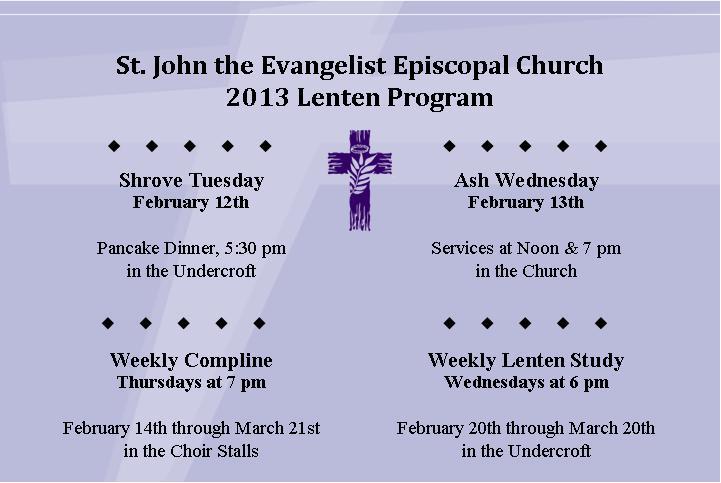 Lenten Program