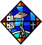 stained glass baptism image